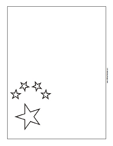 China Flag Coloring Page