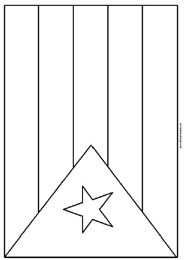 Free Printable Cuba Flag Coloring Page