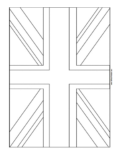 United Kingdom Flag Coloring Page Free Printable
