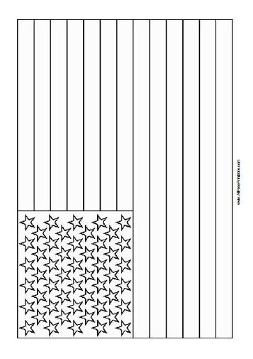 Free Printable USA Flag Coloring Page