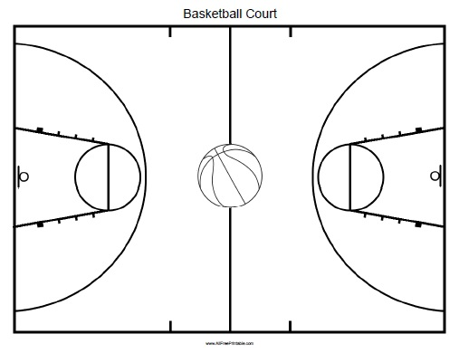 Basketball court free printable for Outdoor basketball court template