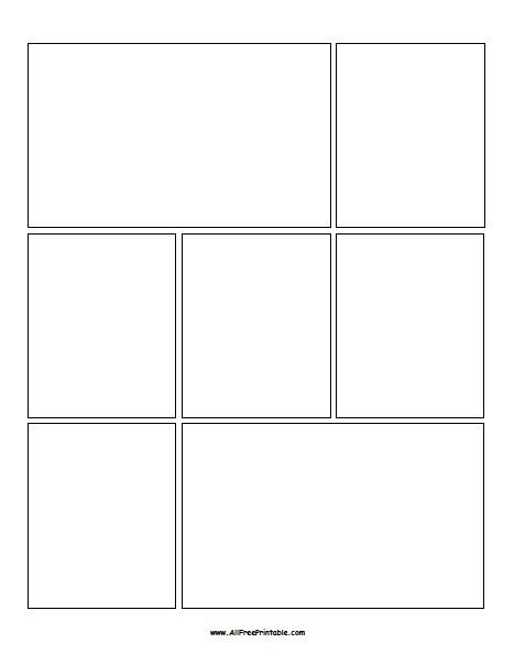Free Printable Blank Comic Book Template