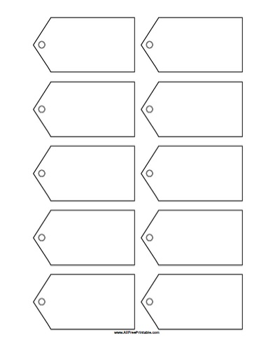 Blank Gift Tags Template - Free Printable - AllFreePrintable.com