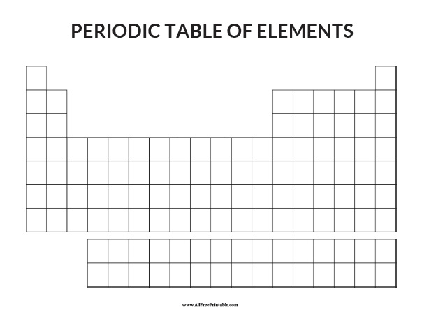 Free Printable Blank Periodic Table