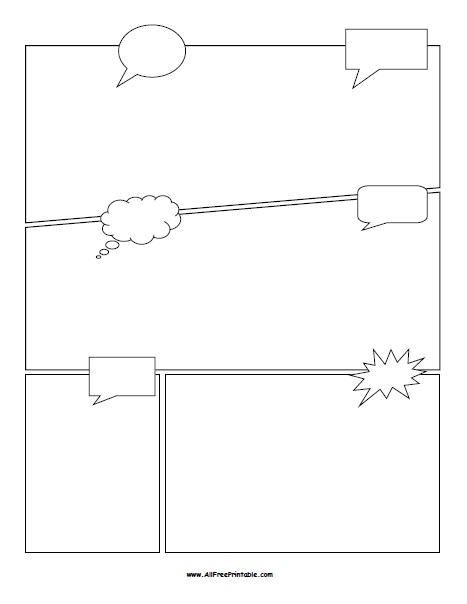 Free Printable Comic Book Template