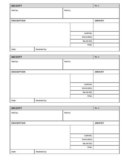 Rent Receipt Free Printable AllFreePrintable – Blank Receipt to Print