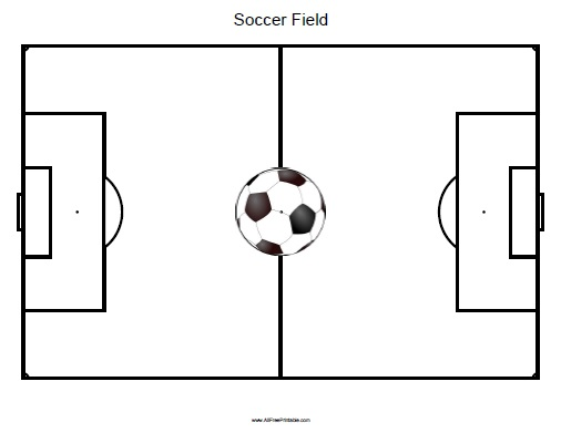 graphic about Soccer Field Printable named Football Marketplace - Absolutely free Printable -