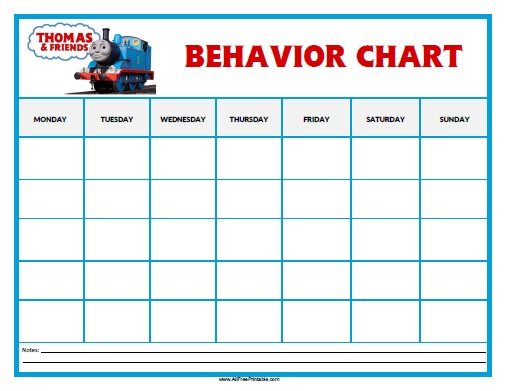 Free Printable Thomas Tank Engine Behavior Chart