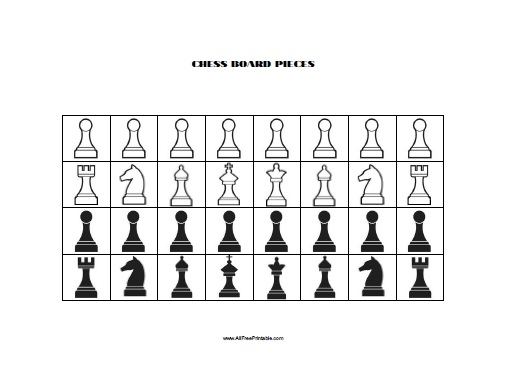 Gratifying image for printable chess pieces