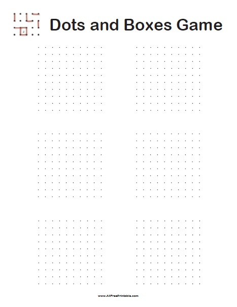 graphic regarding Printable Hangman named Dots and Containers Video game - Free of charge Printable -