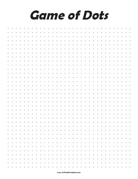 Free Printable Game of Dots