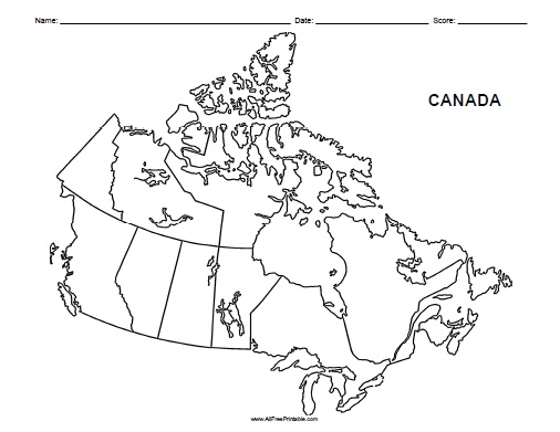 Free Printable Map Of Canada Worksheet Canada Blank Map   Free Printable   AllFreePrintable.com