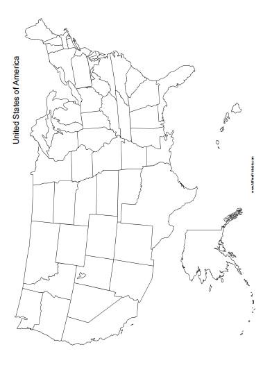 Free Printable United States of America Maps