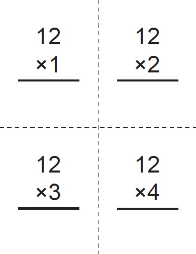 Massif image within printable multiplication cards