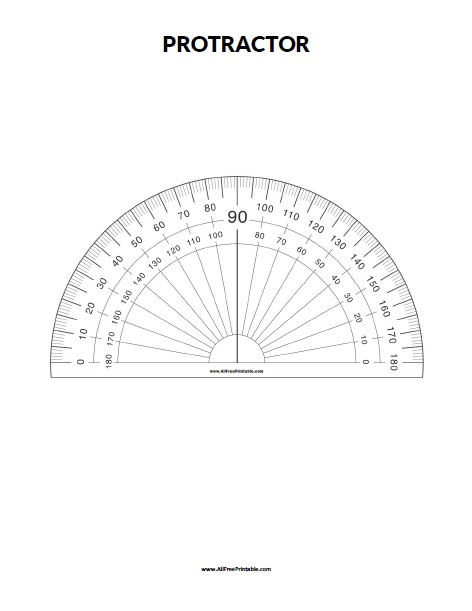 image about Protractor Printable Pdf identified as Protractor - Cost-free Printable -