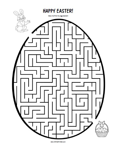Free Easter Worksheets : Easter maze free printable allfreeprintable