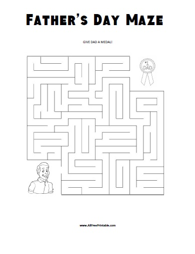 Free Printable Father's Day Maze