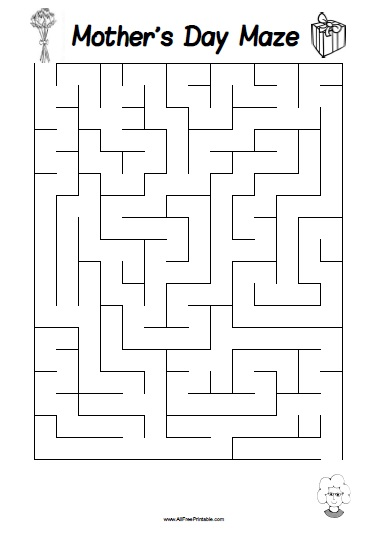 Free Printable Mother's Day Maze