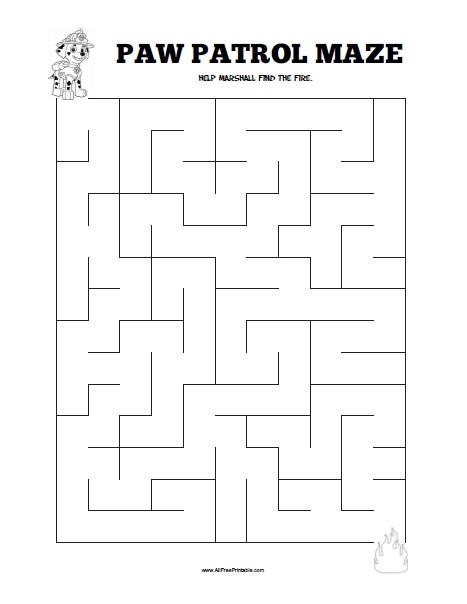 Free Printable Paw Patrol Maze