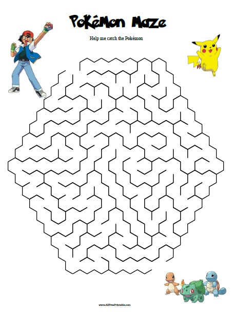 image about Pokemon Printable known as Pokemon Maze - Totally free Printable -