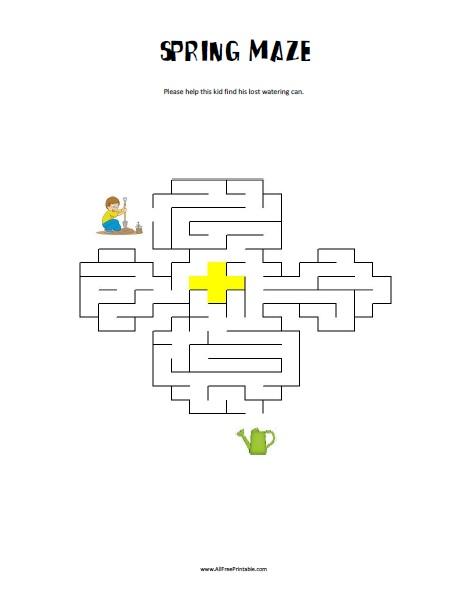 Free Printable Spring Maze