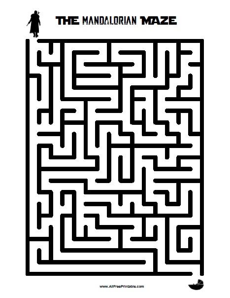 Free Printable The Mandalorian Maze