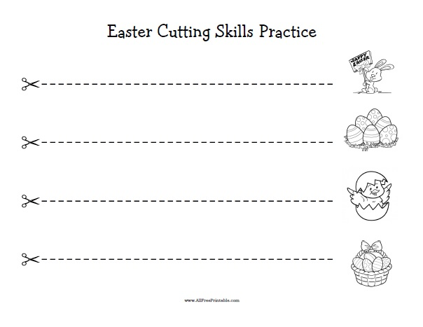 Free Printable Easter Cutting Skills Practice