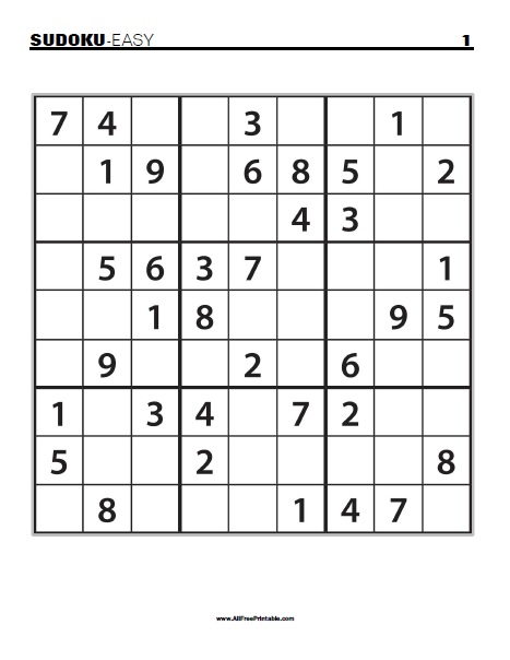 free printable sudoku puzzles 4 per page