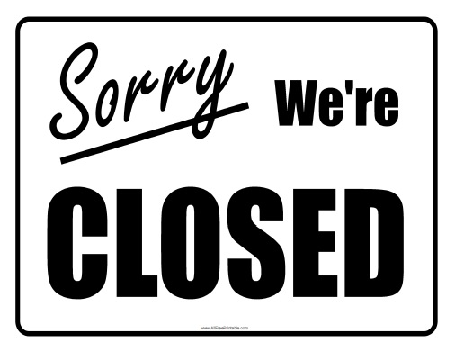 open closed sign template closed sign free printable
