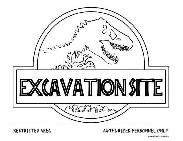 Free Printable Dinosaur Excavation Site Sign