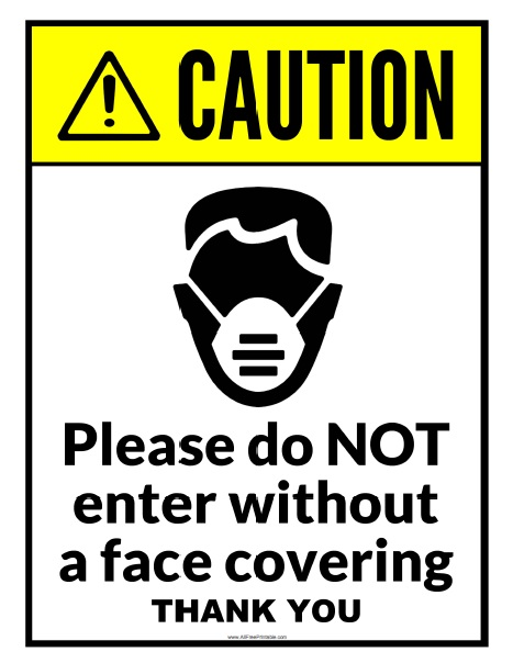 Free Printable Do Not Enter Without Face Covering Sign