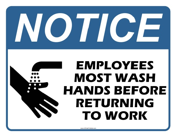 Free Printable Employees Most Wash Hands Sign