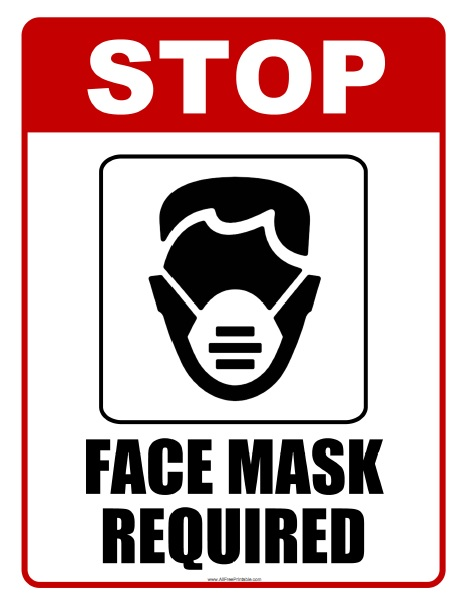 Free Printable Face Mask Required Sign