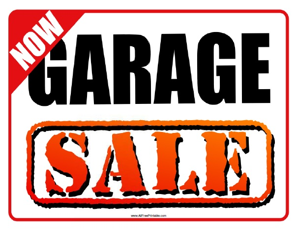Free Printable Garage Sale Sign