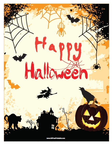 Free Printable Happy Halloween Sign