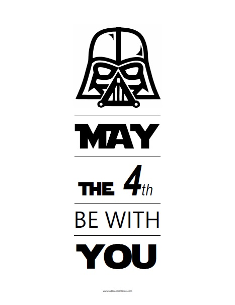 Free Printable May The 4th Be With You Sign