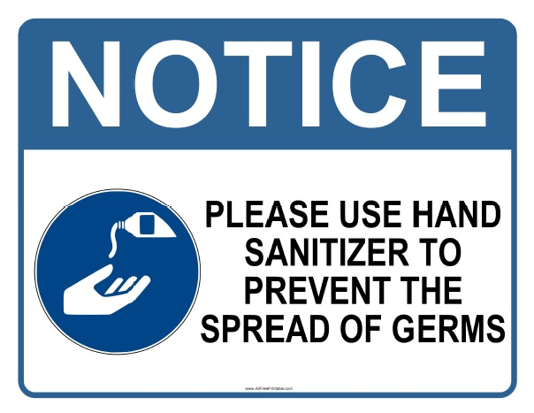 Free Printable Please Use Hand Sanitizer Sign