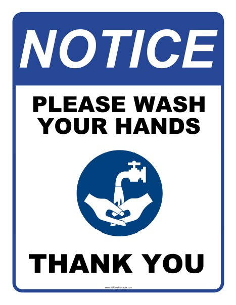 Free Printable Please Wash Your Hands Sign