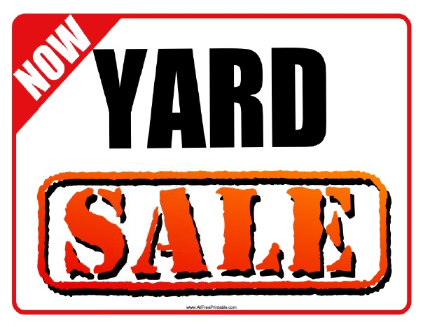 photograph relating to Printable Yard Signs named Back garden Sale Indication - Absolutely free Printable -