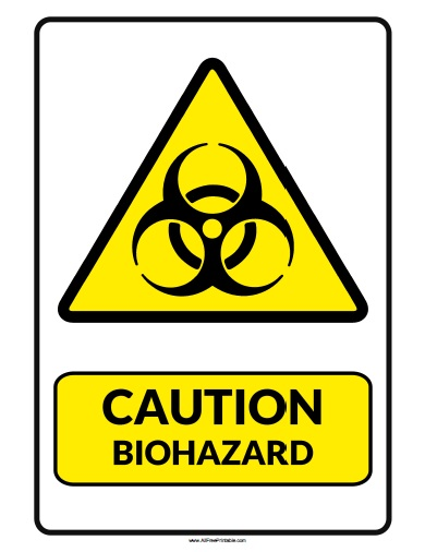 Free Printable Caution Biohazard Sign