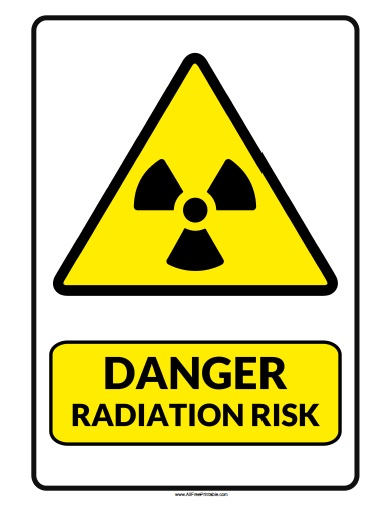Free Printable Danger Radiation Risk Sign