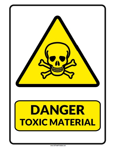 Free Printable Danger Toxic Material Sign