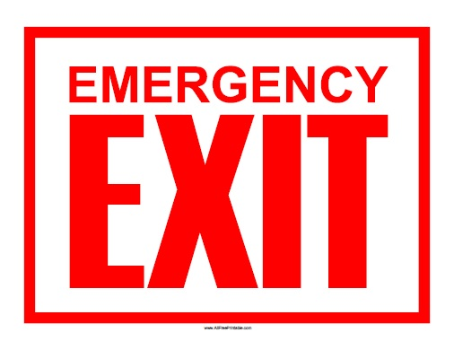 Free Printable Emergency Exit Sign