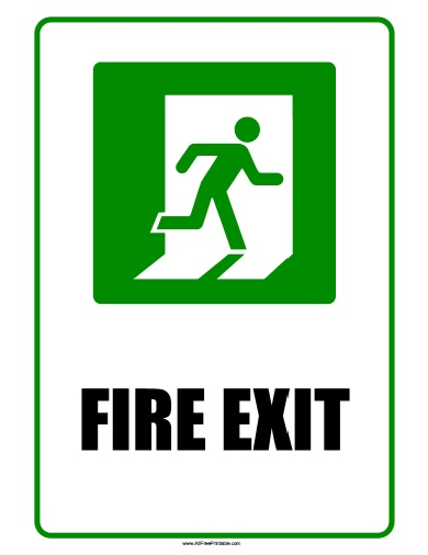 Free Printable Fire Exit Sign