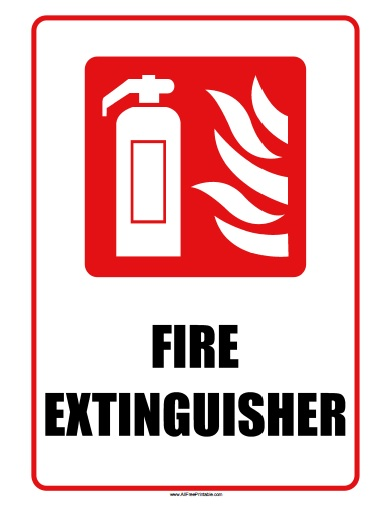 graphic relating to Printable Fire Extinguisher Sign named Hearth Extinguisher Indicator - Totally free Printable -