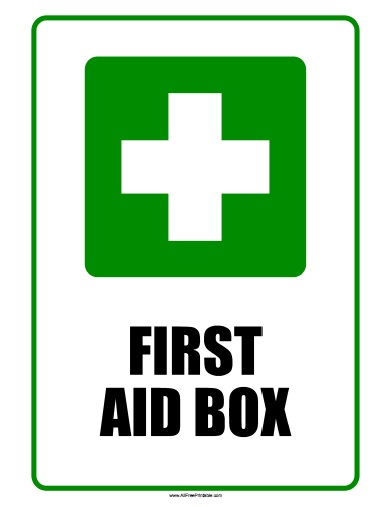 Free Printable First Aid Box Sign
