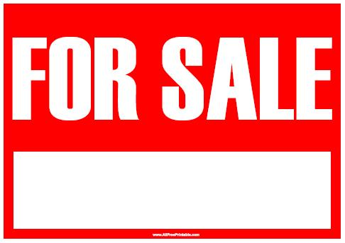 For Sale Sign Free Printable AllFreePrintable – Free for Sale Signs for Cars