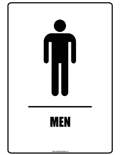 Free Printable Men Restroom Signs