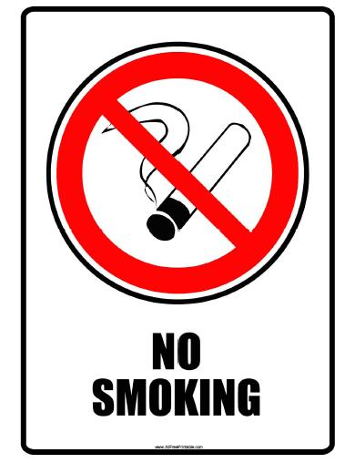 Free Printable No Smoking Sign