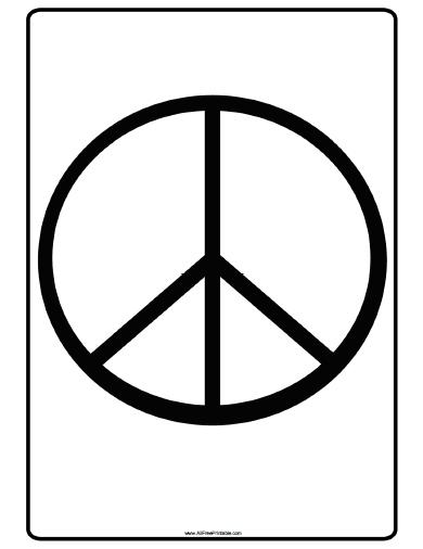 Peace Sign Coloring Page #7